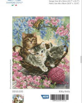 Diamond Painting Kitty Knits