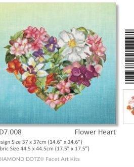 Diamond Painting Flower Heart