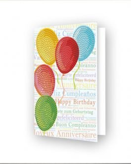 Diamond Painting Balloons on high – Greeting Card