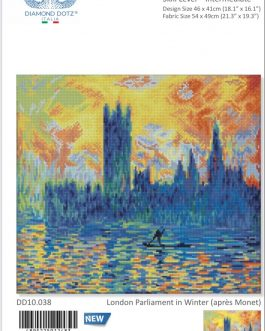 Diamond Painting London Parliament in Winter(après Monet)