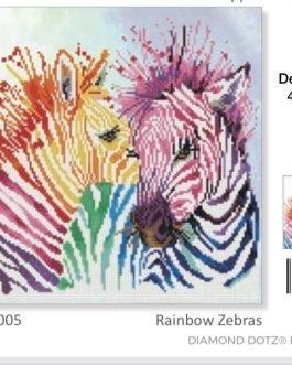 Diamond Painting Rainbow Zebras