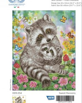 Diamond Painting Sweet Racoons